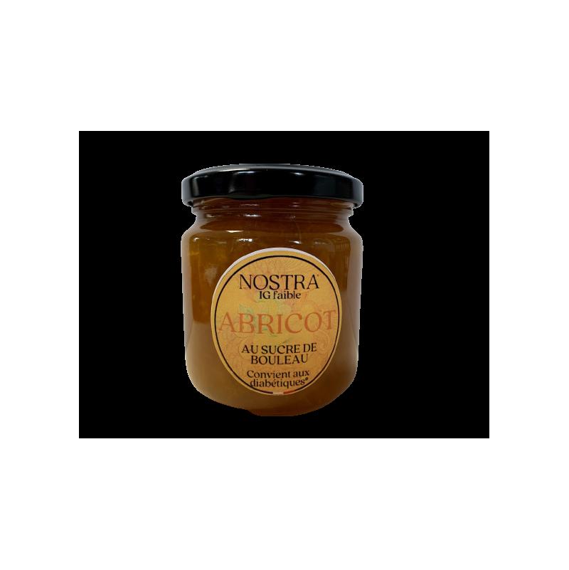 Confiture d'abricots au sucre de bouleau