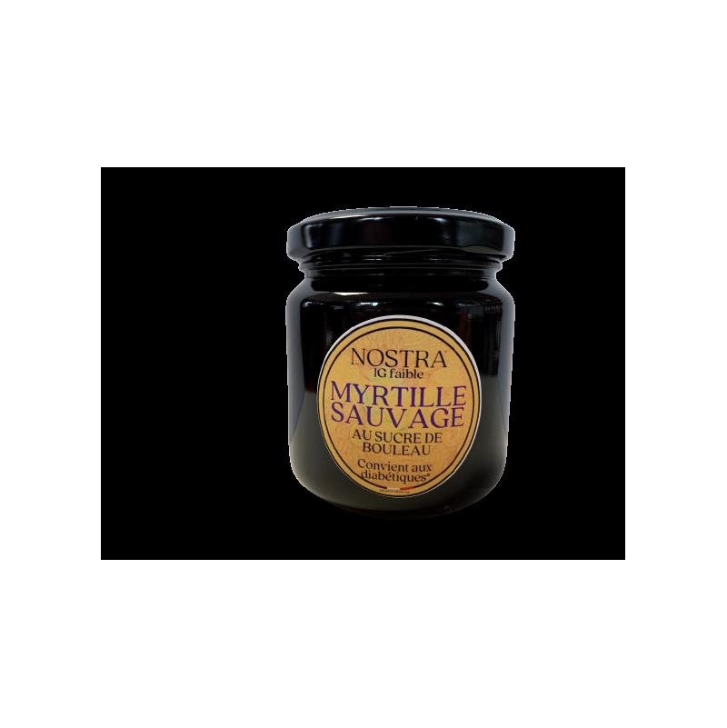 Confiture de myrtilles au sucre de bouleau