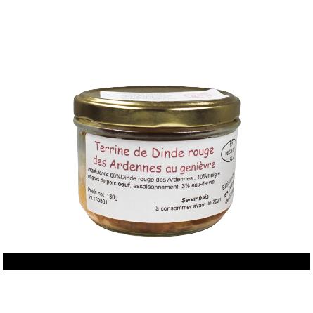 Terrine de dinde rouge des Ardennes au genièvre