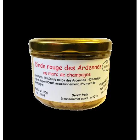 Terrine de dinde rouge des Ardennes au marc de champagne