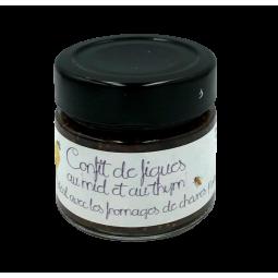 Confit de figues au miel et au thym