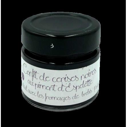 Pot de confit de cerises noires au piment d'Espelette