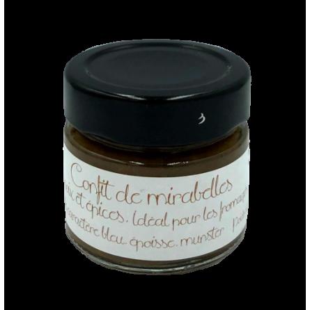 Pot de confit de mirabelles aux noix et épices