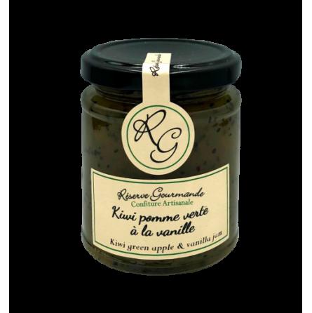 Confiture de kiwi à la pomme verte et à la vanille
